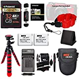 2X Replacement Battery & Charger Bundle for Olympus TG4 & TG5 Includes 32GB Hight Speed SD Card, 12'' Tripod, Camera Case, Float Strap + More