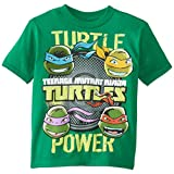 Teenage Mutant Ninja Turtles Little Boys' Short Sleeve T-Shirt Shirt, Kelly Green, 7