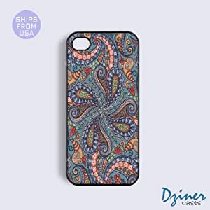 iPhone 5 5s Case - Pink Blue Paisley Pattern iPhone Cover by mcsharks