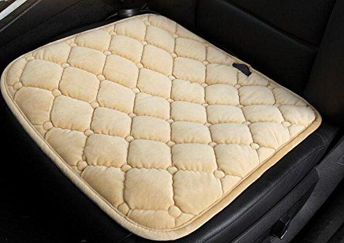 KRISMILEN Calefacción cojín de fibra de carbono coche 12V eléctrico asiento de coche único asiento de Navidad regalo de...