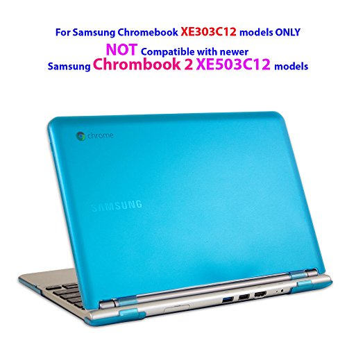 iPearl-mCover-Hard-Shell-Case-for-116-Samsung-XE303C12-series-Chromebook-Wi-Fi-or-3G-laptop-(Not-Compatible-with-Samsung-Chrombook-2-XE503C12-XE500C12-and-Samsung-Chromebook-3-XE500C13---AQUA