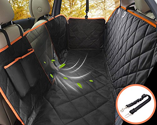 Lifepul Dog Seat Cover Car Seat Cover for Pets - Waterproof & Scratch Proof & Nonslip Backing & Hammock, Dog Backseat Cover Protector with Mesh Window, Fits for Cars Trucks and SUVs