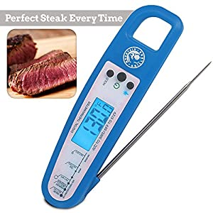 MEAT THERMOMETER - Digital Readout Lets You Cook Your Steaks To The Perfect Temp And Never Serve Under Cooked Chicken Again. Number 1 Rated For BBQ Grill, Smoker, Oven.