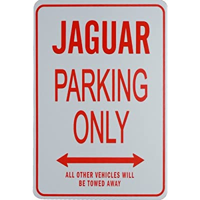 Jaguar Parking ONLY- Miniature Fun Parking Sign: Automotive