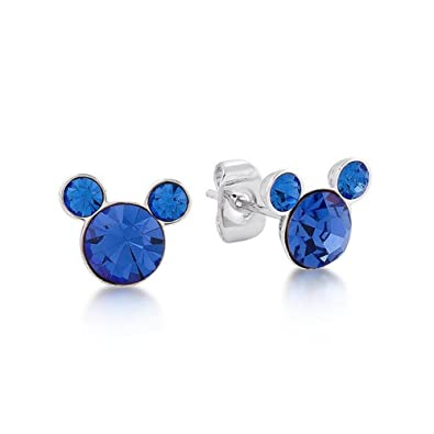 2c8dafd7e Disney September Sapphire Blue Swarovski Crystal Mickey Mouse Birthstone  Earrings by Couture Kingdom: Amazon.co.uk: Jewellery