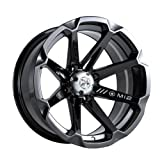 MotoSport Alloys M12 Diesel Gloss Black ATV Wheel UTV Wheel (14x7/4x110)