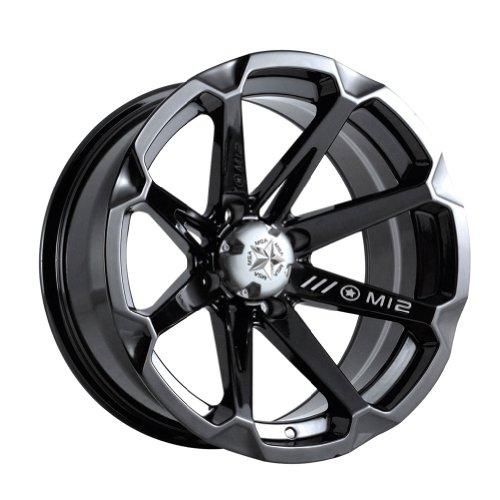 MotoSport Alloys M12 Diesel Gloss Black ATV Wheel UTV Wheel (14x7/4x110) by MotoSport Alloys (Image #1)