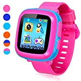 This is a bright and colorful 1.5-inch touch screen children's game smart watch, teaching and entertainment 3 to 12 year old child, this is just a watch, but also innovative children's electronic learning toys, can make the children arrange their tim...