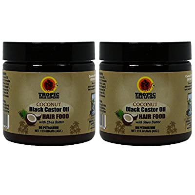 Tropic Isle Living Coconut Jamaican Black Castor Oil Hair Food, 4 Ounce