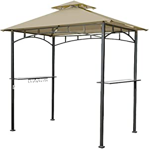 Garden Winds Replacement Canopy Top Cover for The LED Lighted Grill Gazebo - RipLock 350