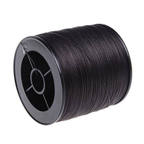 Ashconfish Braided Fishing Line-16 Strands Hollow Core Fishing Wire 100M/109Yards 500LB Abrasion Resistant Incredible Superline Zero Stretch Ultrathin Diameter Woven Thread Black (Fishing Core Line)