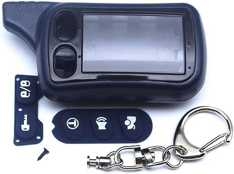 LJQXBF Cubierta de la Llave del Coche Tomahawk TZ9010 Estuche Llavero Tamarack para Sistema de Alarma de Coche de 2 vías Tomahawk TZ9010 TZ9030 TZ-9030 Llavero Fob LCD Control Remoto: Amazon.es: Electrónica