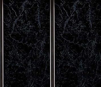 Schwarz Marmor, mit Chrom Einsätze 8 mm Badezimmer Küche ...