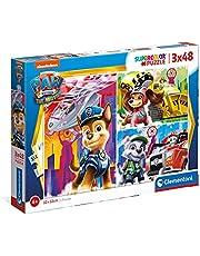 Clementoni Kinderen Puzzel, Paw Patrol The Movie 2021-3x48 Stukjes - Supercolor Puzzle, 4+ jaar, 25271