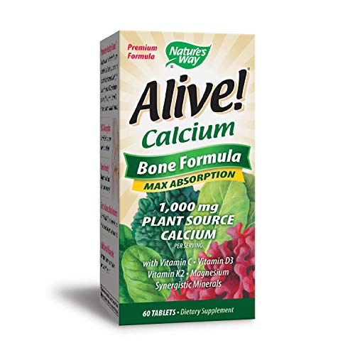 Nature's Way Alive!® Calcium Bone Formula Supplement (1,000mg per serving), 60 Tablets (Packaging May Vary) Review