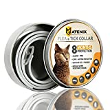 ONMOG Flea and Tick Prevention Collar for Cat - Best Flea Collar Repellent - 8 Month Protection - Environment Friendly with Fully Natural Ingredients