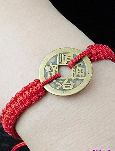 - Generic life_of red_rope_Five_Emperors_money_transfer_to stylish _lucky_red_rope_ bracelet bangle women girls _male_couples_copper_money_ hand _twine