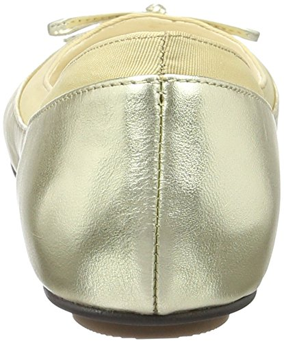 Buffalo London 207-3562 Metallic Sheep Lea, Ballerines Femme, Or (Gold 01), 42 EU