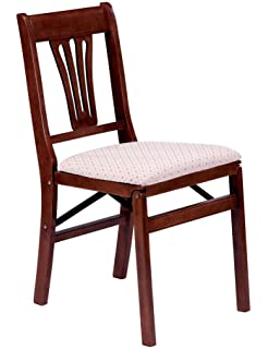 Amazoncom Stakmore Queen Anne Wood Folding Chairs with