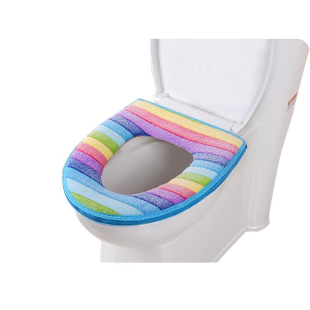 Malloom® Bad WC Sitz Waschbare Weichwärmer Matte Abdeckung Pad Kissen (A)