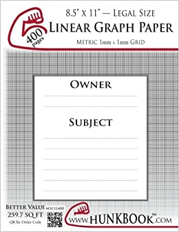 linear graph paper 1mm grid msl1l 400 pages legal size mighty