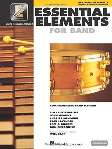 Percussion Essential Elements - Essential Elements 2000: Book 1 with CD-ROM (Percussion) (Percussion Book 1) [Spiral-bound] [1999] Hal Leonard Corp.