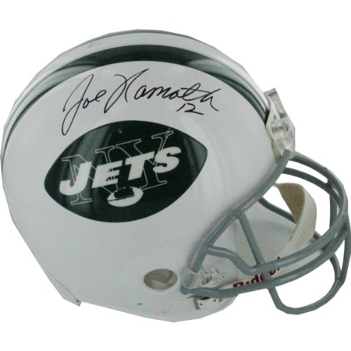 NFL New York Jets Joe Namath Autographed Helmet by Steiner Sports