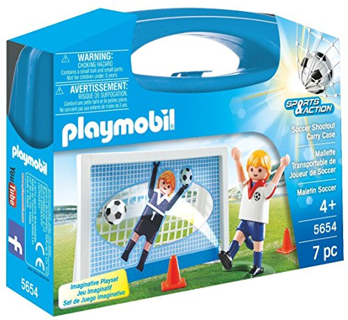 Soccer Boy Figurine - PLAYMOBIL Soccer Shootout Carry Case