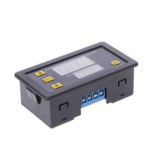 Modulo relè a ritardo 12V Relè digitale a doppio display 0-999 ore Timer ciclo
