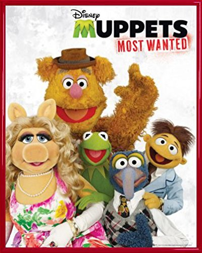 Muppets Mini Poster and Frame (Plastic) - Most Wanted, Cast (20 x 16 inches)