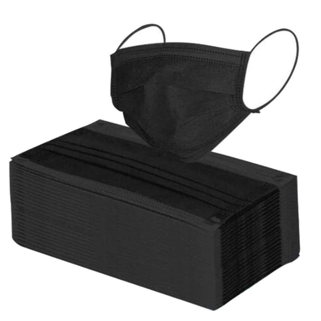 100 Piezas Adulto negro Protección 𝐌𝐚𝐬𝐜𝐚𝐫𝐢𝐥𝐥𝐚𝐬, Seguro Suave personal diaria, Protección Transpirables A Prueba de Polvo con Elástico para Los Oídos