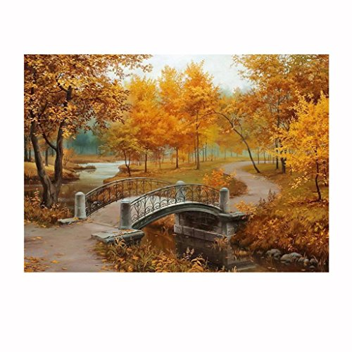 5D Home Decoration,Bokeley DIY Diamond Embroidery Paintings Wall Sticker Hut in Forest Counted Cross Stitch Kit (A, - Hut Forest In