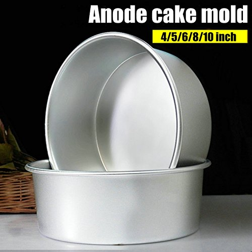 Aluminum Alloy Die Round 4/5/6/7/8/9/10 Inch Cake Mold Cake Tool Baking Dish Baking Mould Pan Pattern Bakeware Tool cozinha