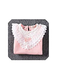 The fairy Girls Blouses Shirts Fashion Warm Solid Long Sleeve Lace Flower Blouses Children Girls School Cotton Clothes