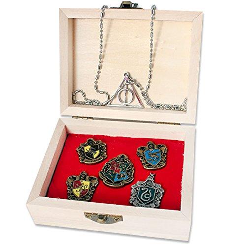Logo key chain necklace pendant copper big four college magic wand