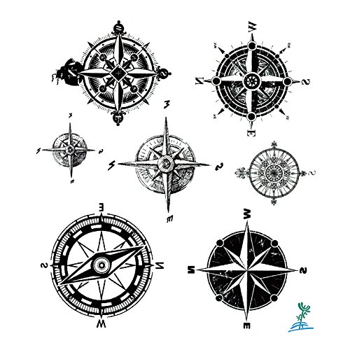 yeeech temporary tattoo paper compass black for men women buy online in uae health and. Black Bedroom Furniture Sets. Home Design Ideas