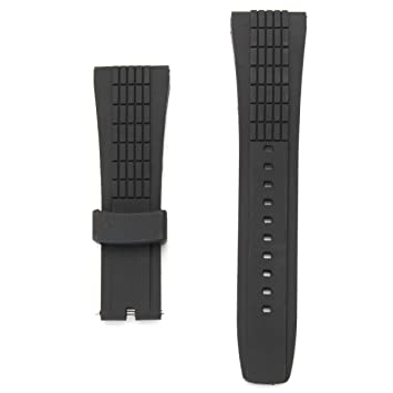 DyNamic 20-26 mm De Silicona Negro Reloj Banda Correa para Seiko Velatura Watch Reemplazable