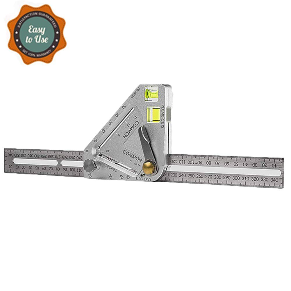 Angle Measure Roof Revolutionizing Carpentry Utensil Multi-Function Measuring Tool Angle Ruler, Multipurpose Tool,Quality Accurate Angle Measure for Carpentry Square Layout Tool by GUmin