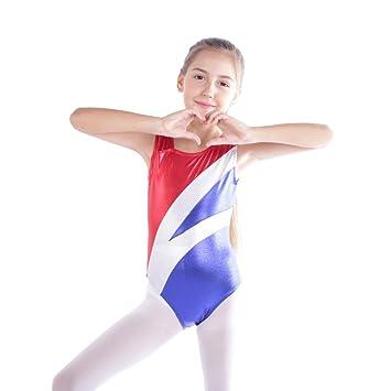 2811039c955f Hougood Gymnastic Leotards for Girls Ballet Leotard Dance Bodysuit  Sleeveless Hit Color Stitching Dance Costumes Dancewear