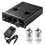 ammoon Mini HiFi 6J1 Vacuum Tube Stereo Audio Pre-amplifier Buffer Preamp with Power Adapter