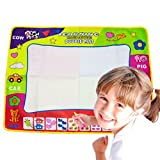 Cisixin Magic Mat/Water Drawing Painting Mat(31.4in x 23.6in)with 4 Color, Magnetic Aqua doodle Learning Painting Doodle Scribble Boards with Magic Pen for Kids