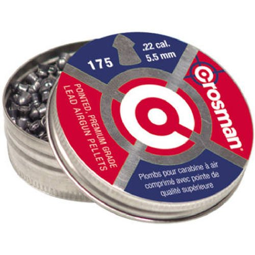 Crosman Pointed Pellets 22 Caliber 175 Count