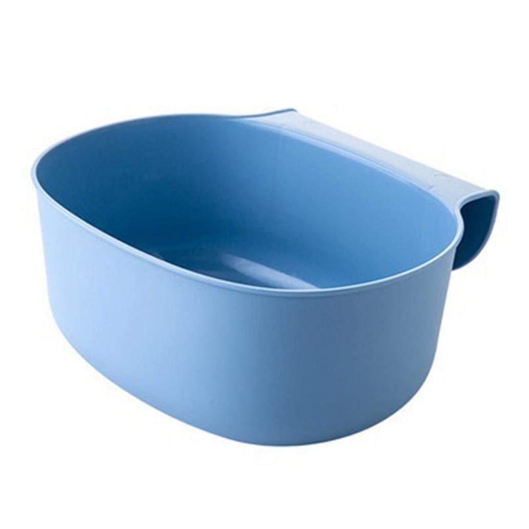 Kitchen Cabinet Hanging Garbage Waste Bin Can Trash Barrel Storage Container - Blue rycent