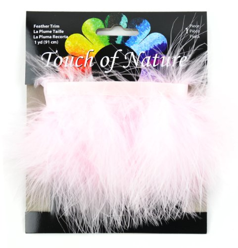 (Touch of Nature Fluffy Feather Trim, 2.5 by 36-Inch, Light Pink)