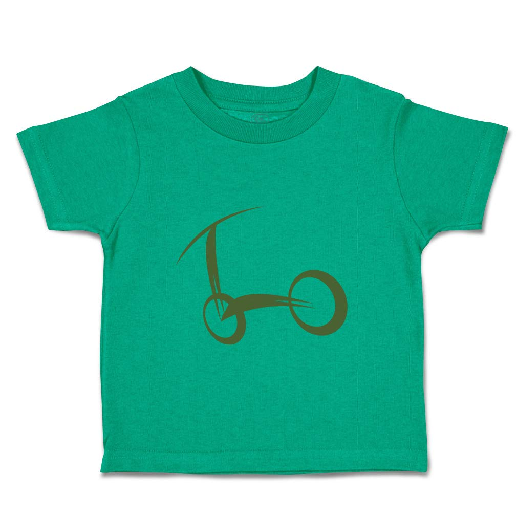 Custom Baby & Toddler T-Shirt Scooter Shadow Cotton Boy & Girl Clothes Funny Graphic Tee Kelly Green Design Only 5 6T by Cute Rascals
