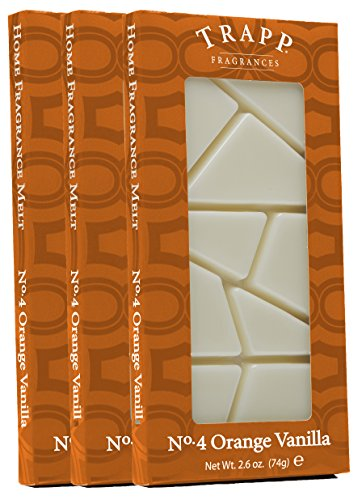 Trapp Home Fragrance Melt, No. 4 Orange Vanilla, 2.6-Ounce, 3-Pack