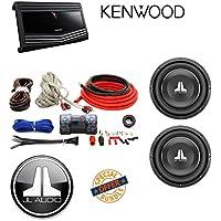 Kenwood KAC-9106D 2000 Watt Monoblock Class D Power Amplifier Amp W/ Cerwin Vega - CAK4 ANL Fuse Holder 100amp Kit+JL Audio 10 Single 4-Ohm W1v3 Series Subwoofer