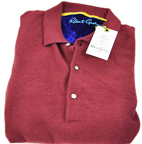 robert-graham-mens-medium-bordeaux-long-sleeve-buttoned-pullover-sweater