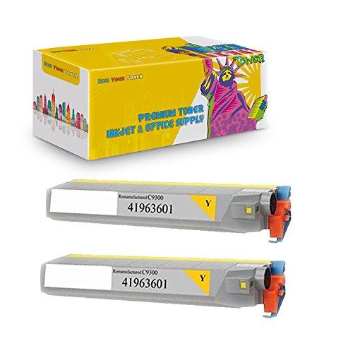 New York TonerTM New Okidata 2 Pack Okidata 41963601 High Yield Toner For OKI : C9300 | C9500dxn | C9500. --Yellow