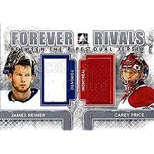 James Reimer, Carey Price Hockey Card 2012-13 ITG Forever Rivals BTP Dual #5 James Reimer, Carey Price